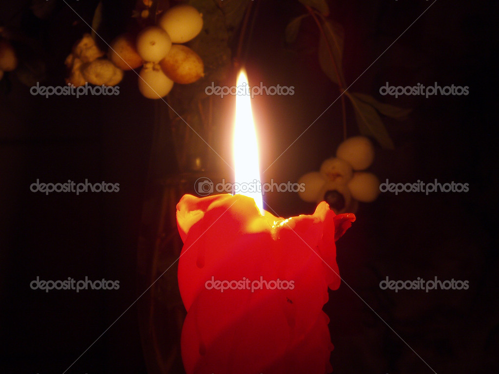 Still life with candle — Stock Photo #2100247
