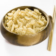Noodles and Chinese Sticks — Stock Photo