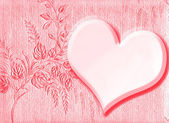 Heart as valentine's card — Stock Photo