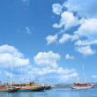Landscape with yacht — Stock Photo #2121952
