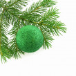 Christmas tree- fir with sphere still-li - Stock Photo