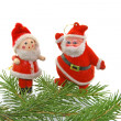 Christmas tree- fir with dolls - Stock Photo
