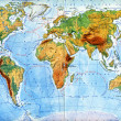 Stock Photo: Physical map of world