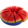 Royalty-Free Stock Photo: Red watermelon on plate