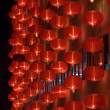 Chinese red lanterns at night — Stock Photo #2090670