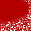 Stock Photo: Abstract hearts background for holidays