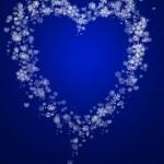 Abstract snowflake and hearts — Stock Photo
