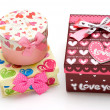 Two beautiful hand-made gift box — Stockfoto