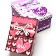 Two hand-made gift box isolated — Stock Photo