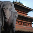Ancient elephant sculpture of nepal — Stock Photo
