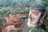 Leshan giant buddha im mt.emei china — Stockfoto