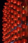 çin kırmızı fenerler gece — Stok fotoğraf
