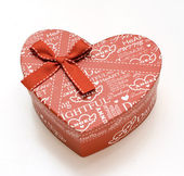 Mooie handgemaakte rood hart cadeau — Stockfoto