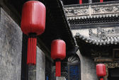Chinese red lanterns of chinese new year — Stock Photo