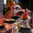Candleholders of hinduism at nepal — Foto de Stock