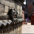 Snake god sculpture relief of nepal - Stock Photo