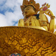 Golden Buddha for Tibetan Buddhism — Stockfoto
