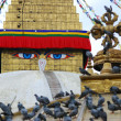 Bodhnath stuba in kathmandu nepal - Stock Photo