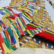 Streamer flags of  bodhnath stuba — Stock Photo