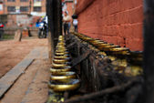 Temple candleholders at nepal — Foto de Stock