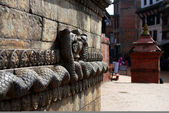 Snake god sculpture relief of nepal — Photo