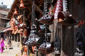 木鱼雕塑的巴克塔普尔,尼泊尔 — 图库照片