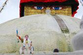 Bodhnath stuba w kathmandu nepal — Zdjęcie stockowe