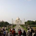 Taj Mahal Panorama — Stock Photo