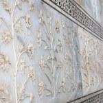 Textures details of taj mahal — Stock Photo