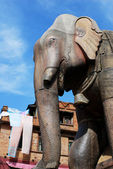 Ancient elephant sculpture of nepal — Photo