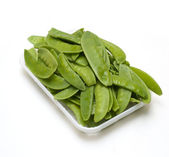 Snap Peas isolated on White — Stockfoto