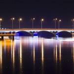 Bridge with Neon Light at night — Stock Photo #2360248