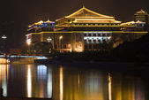 Ancient Chinese Architecture at night — Stock Photo