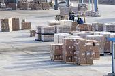 货物在机场的中国制造的 — 图库照片