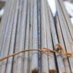 Rusty High Tensile Deformed Steel Bar — Stock Photo
