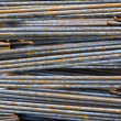 Stock Photo: Close-up High Tensile Deformed Steel Bar
