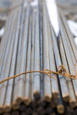 Rusty High Tensile Deformed Steel Bar — Stock Photo