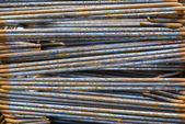 Close-up High Tensile Deformed Steel Bar — Stock Photo