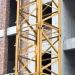 Crane at Concrete Construction Site — Stock Photo
