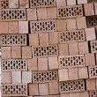 Stock Photo: Pile Of Hollow Bricks