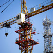 Stock Photo: Tower Crane under blue sky