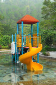 Water playground at the park — Stock Photo