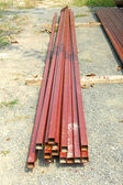 Steel rods bunch — Stock Photo