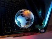 Technology earth globe — Stock Photo