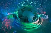 Globo de terra tecnologia — Fotografia Stock