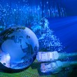 Technology earth globe - Stock Photo