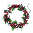 Cherry framework of christmas decorations — Stock Photo