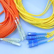 Network cable  with fiber optical - Zdjęcie stockowe