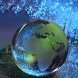 Technology earth globe — Stock Photo #2338988