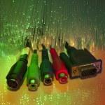 Media plug with fiber optical — Stock Photo